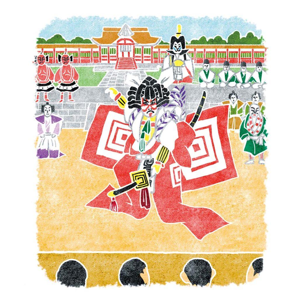 歌舞伎イラスト