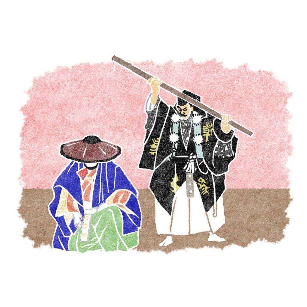 歌舞伎の勧進帳イラスト