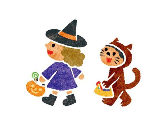 ハロウィンの仮装した子供