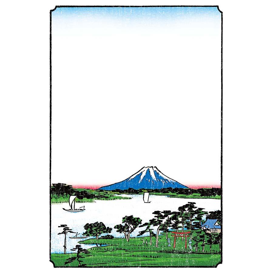 年賀状の富士山のイラスト
