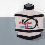 original works 切り絵コラージュ「kanjiroの壷」