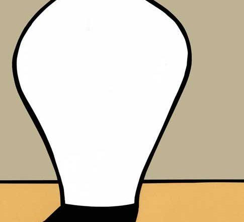 白磁の大壺のシンプルな切り絵イラスト