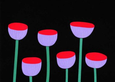 花のシンプルな切り絵イラスト