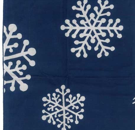 手ぬぐいに雪の結晶イラスト