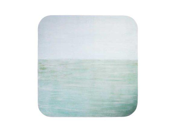 朝の海を描いた絵画作品