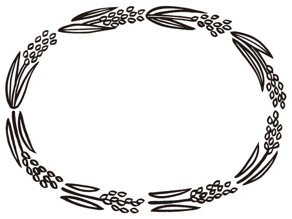 稲のドローイングイラスト