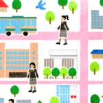 女子中学校のマップ